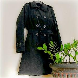 LONDON FOG TRENCH COAT & Liner Black Medium
